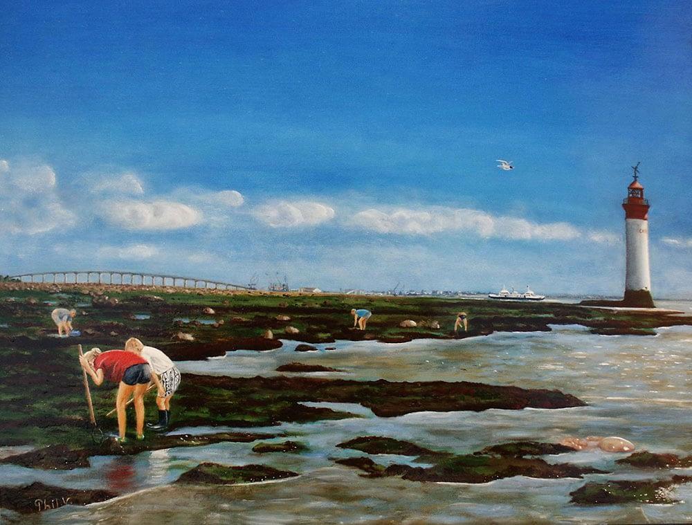 Peinture de Paysage de l'Île de Ré