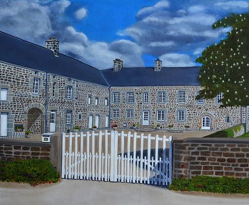 Peinture de bergerie en Normandie France