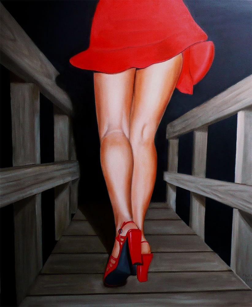 Peinture de jambes de femme